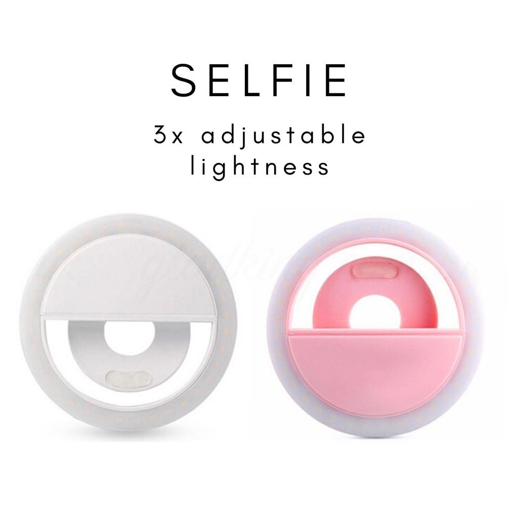 GLADKING Rechargeable Selfie Ring Light For Cellphone | Shopee ...