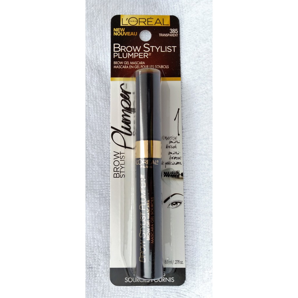 0ce304c1396 L'Oreal Paris Brow Stylist Boost & Set Brow Mascara, Clear | Shopee  Philippines