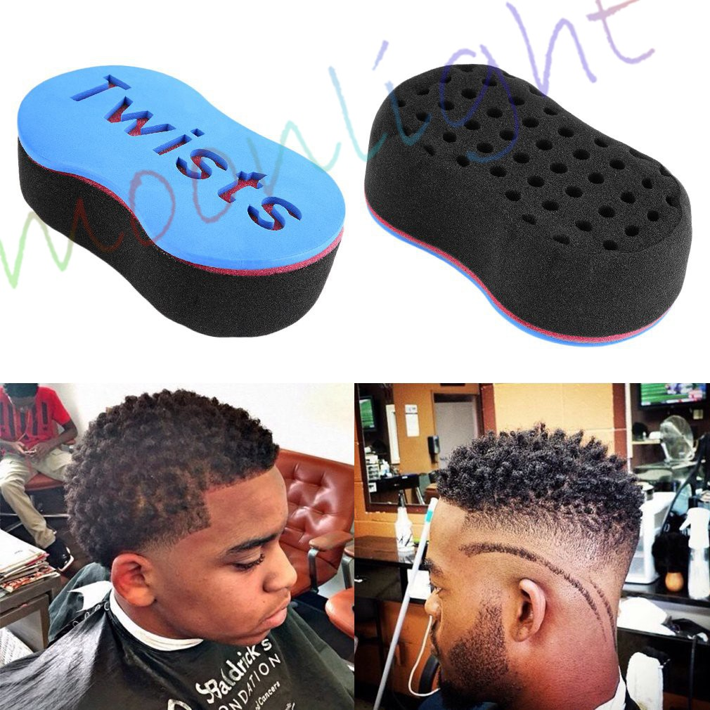 Beauty & Health Oval Double Sided Barber Sponge Brush Hair Sponge Afro Coil Wave Dread Braid Magic Twists Style Hair Coil Curl Wave Brush Braide Fast Color