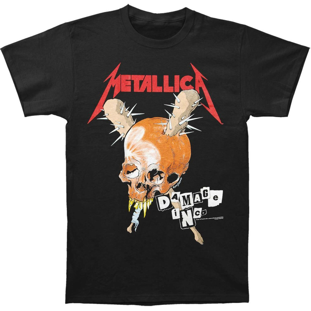 IN STOCK METALLICA DAMAGE IN TOUR 100/% OFFICIAL ADULT UNISEX T-SHIRT