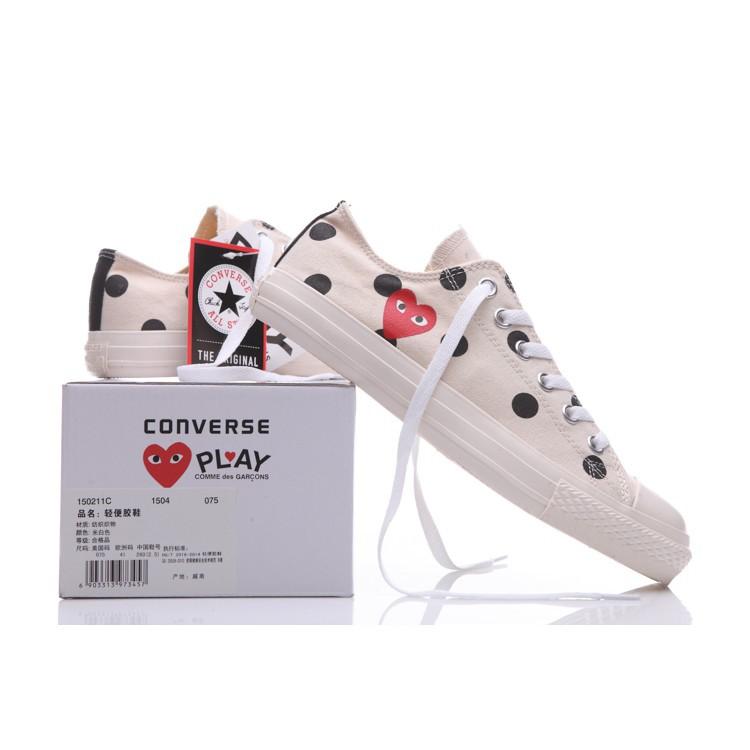 bbddb96bcfdb11 Original COMME des GARÇONS PLAY x Converse Chuck Taylor All Star HI Canvas  Shoes