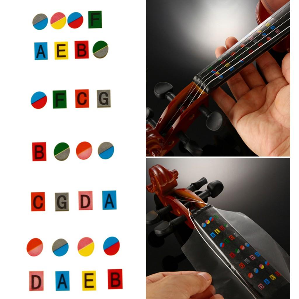 Violin Fiddle Finger Guide Fingerboard Sticker Label Intonation Chart Fretboard Marker for Practice Beginners 4//4