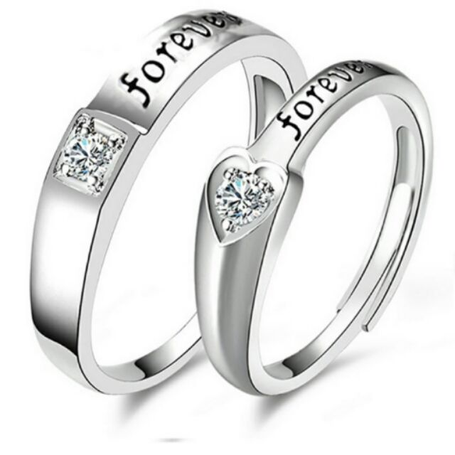 0e5a1e99ec Silver Adjustable Couple Rings Affectionate Lovers Rings | Shopee  Philippines