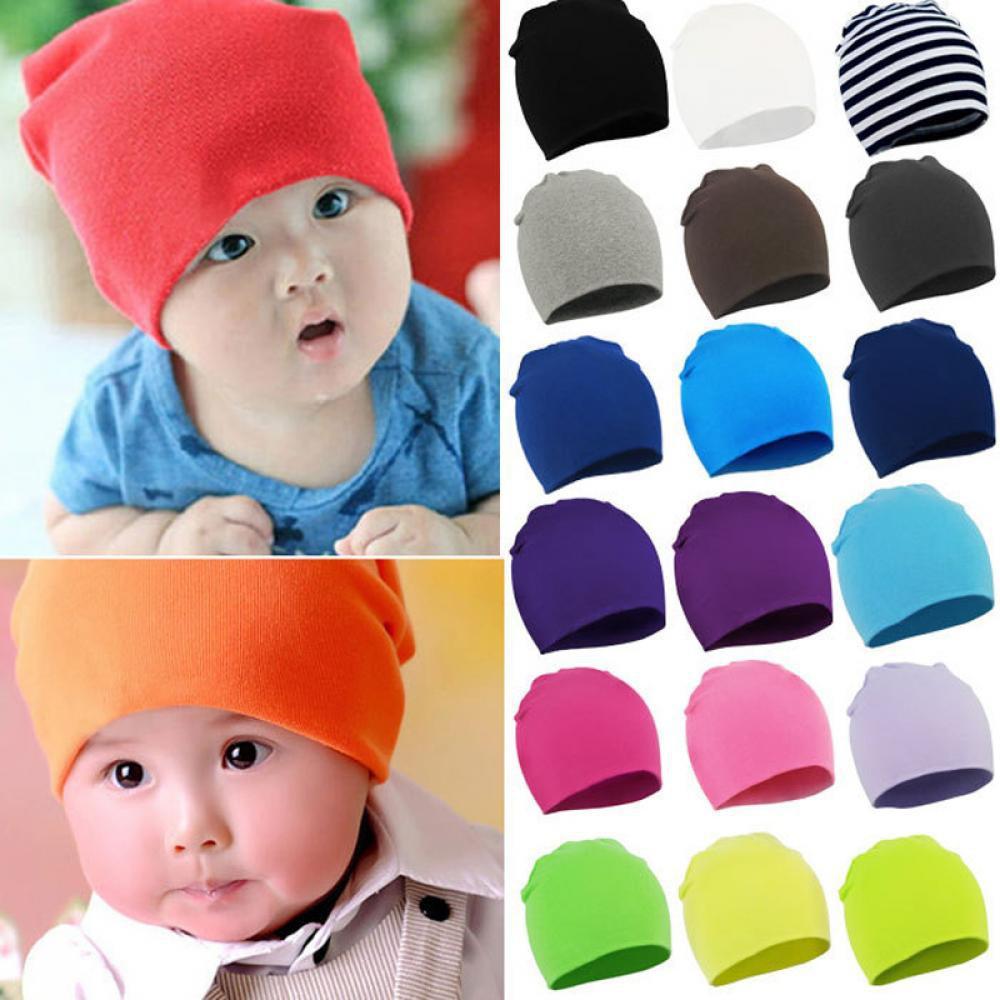 fc1b99121766 Bow Cap Girl Cotton Turban Baby India Hats Boy Beanie