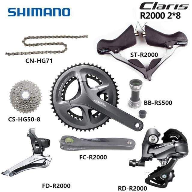 Shimano claris r2000 groupset