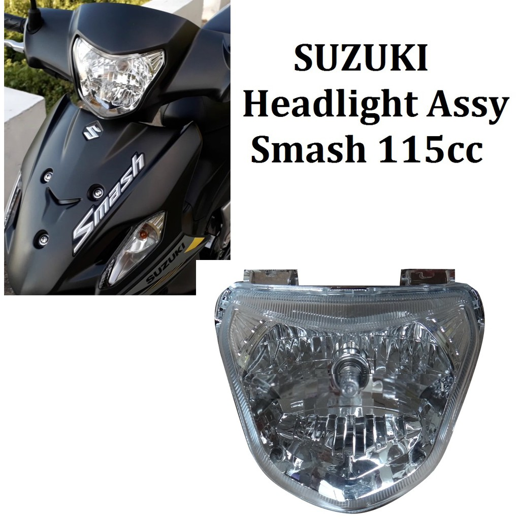 Motorcycle smash 115 headlight assy lens bulb socket harness shopee philippines