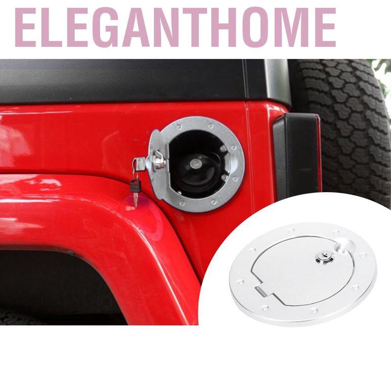 Duokon Aluminum Alloy Black Car Fuel Tank Cap Cover Fits for Jeep Wrangler JK 2007-2017