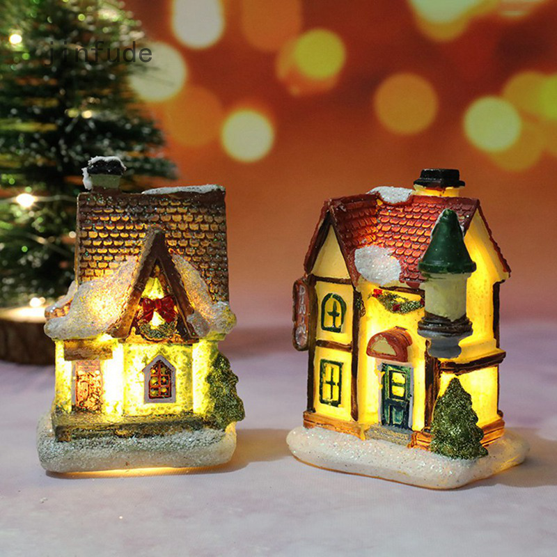 Christmas New Christmas Decorations Resin Small House Micro Landscape Resin House Small Ornaments Christmas Gifts Shopee Philippines