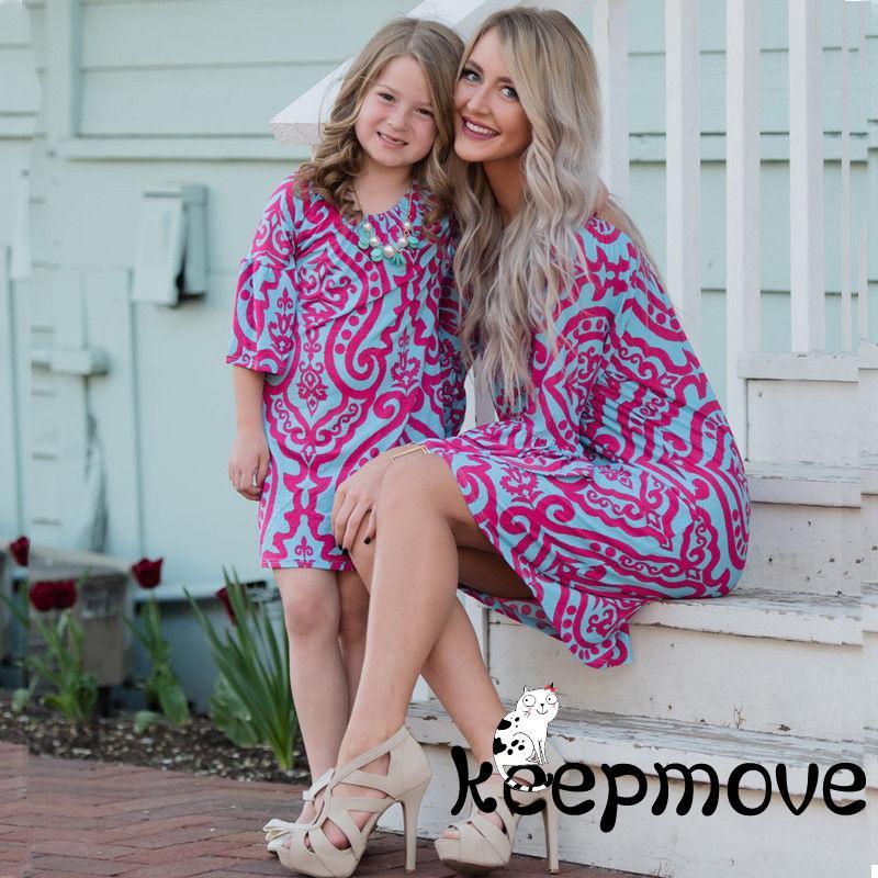 9e5de24c3cdf4 MP.-2018 New Fashion Mother and Daughter Casual Boho Mini