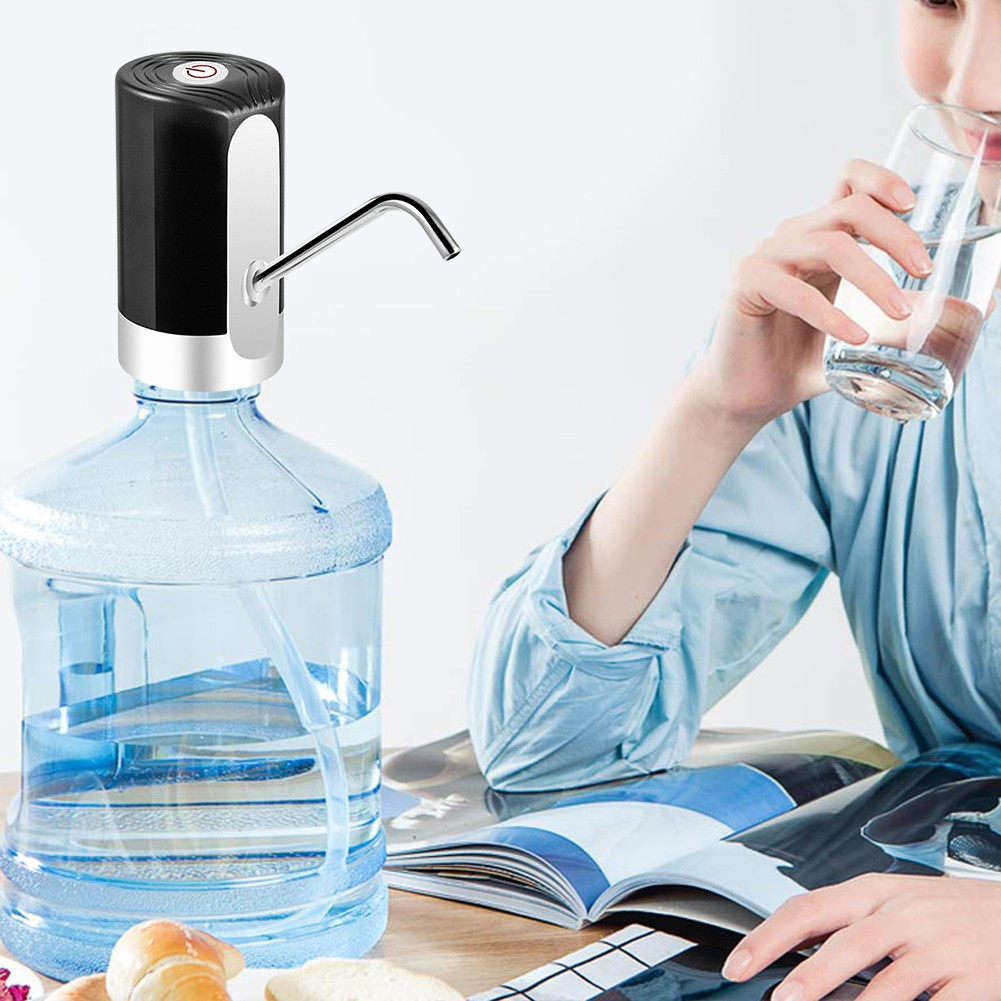 Water Bottle Pump USB Charging Automatic Drinking Water Pump Fast Portable Electric Water Dispenser Water Bottle Switch for Universal 5 Gallon Bottle
