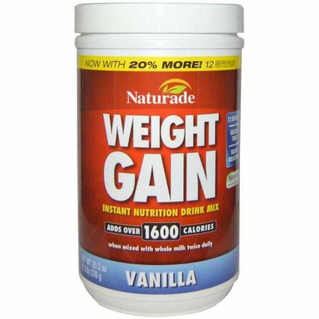 Weight Gain, Instant Nutrition Drink Mix, Vanilla, 20 3 oz