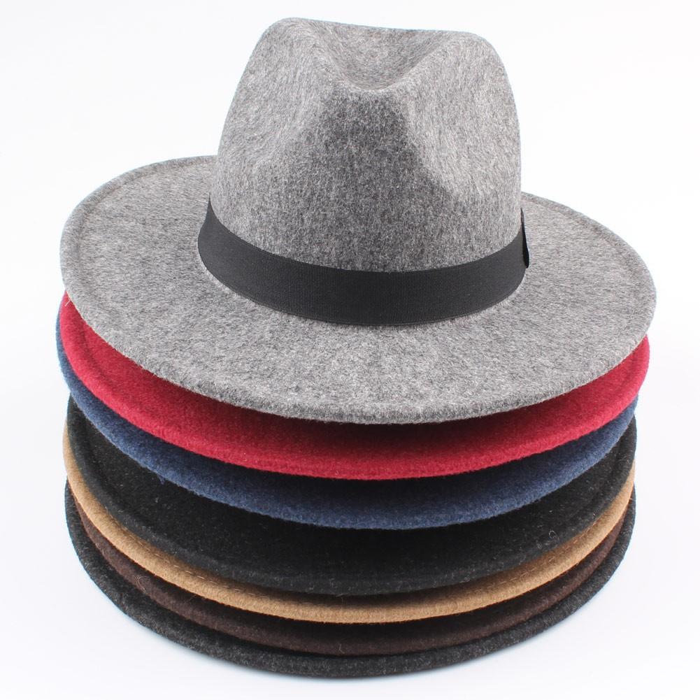 44cc5f24cf418f Ladies Soft Wool Felt Fedora Wide Brim Boater Flat Top Hat   Shopee  Philippines