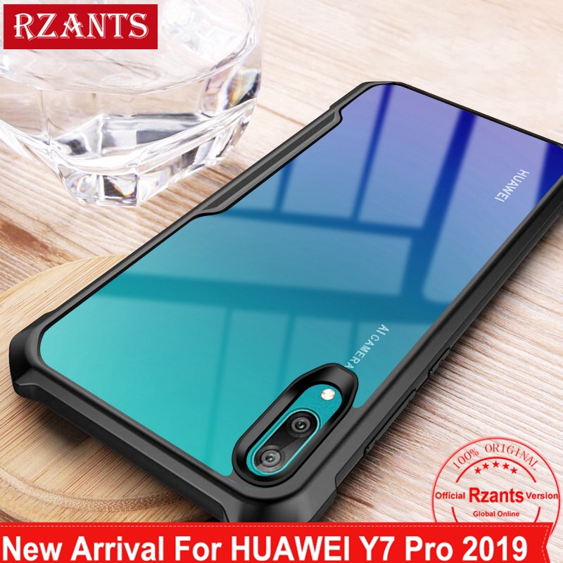 best sneakers bb3e4 edf63 Huawei Y7 Pro 2019 Case Transparent Back Shockproof Cover