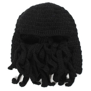 2b23a0cd859 Funny Tentacle Octopus Beanie Knit Beard Hat Fisher Cap Wind Ski ...