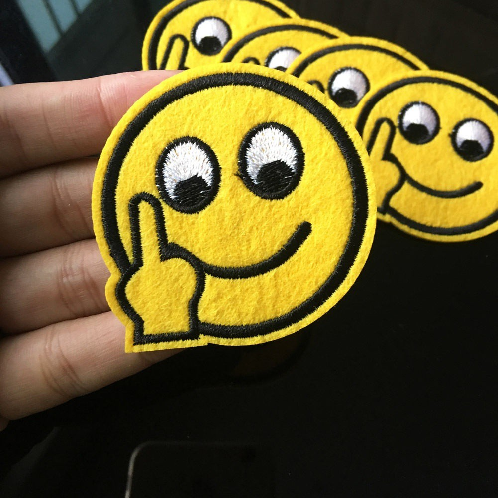Arts,crafts & Sewing Ingenious 1pc Facial Expression Pack Embroidered Lovely Cartoon Patch Iron On Patches For Hat Bag Applique Badges Diy Clothing Accessory Moderate Price Patches