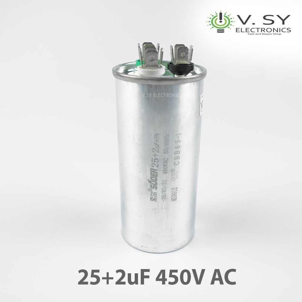 25uF 450VAC 50//60Hz CBB65A Motor Start Run Capacitor