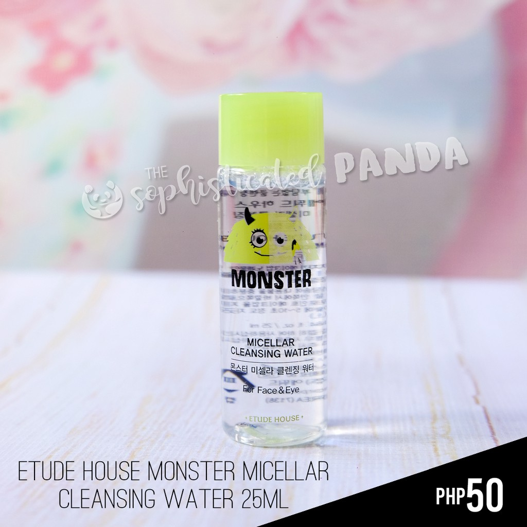 ETUDE HOUSE MONSTER MICELLAR CLEANSING WATER 25ml 💯Original | Shopee Philippines
