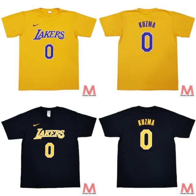 big sale 9488b 09529 Los Angeles Lakers #0 Kyle Kuzma NBA T-Shirt