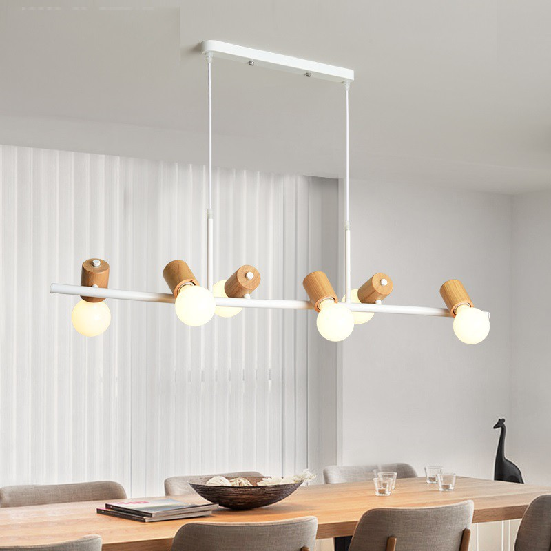 Pendant Light Solid Wood Dining Table