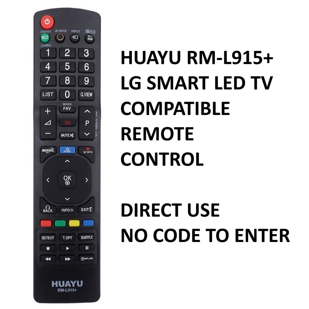 Huayu RM-L915+ LG LCD/LED TV Remote Control