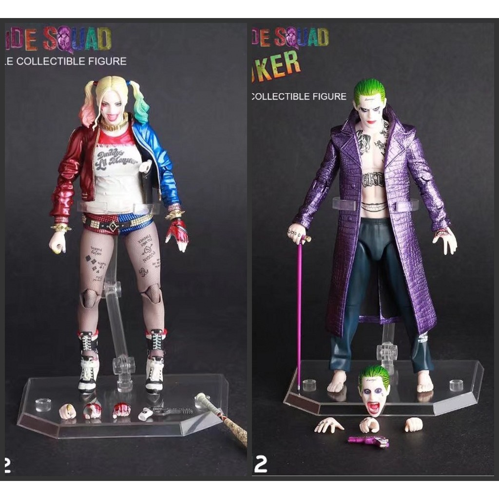 """12/"""" Crazy Toys Suicide Squad Flim Harley Quinn real Clothes /& Joker 1//6TH Figure"""