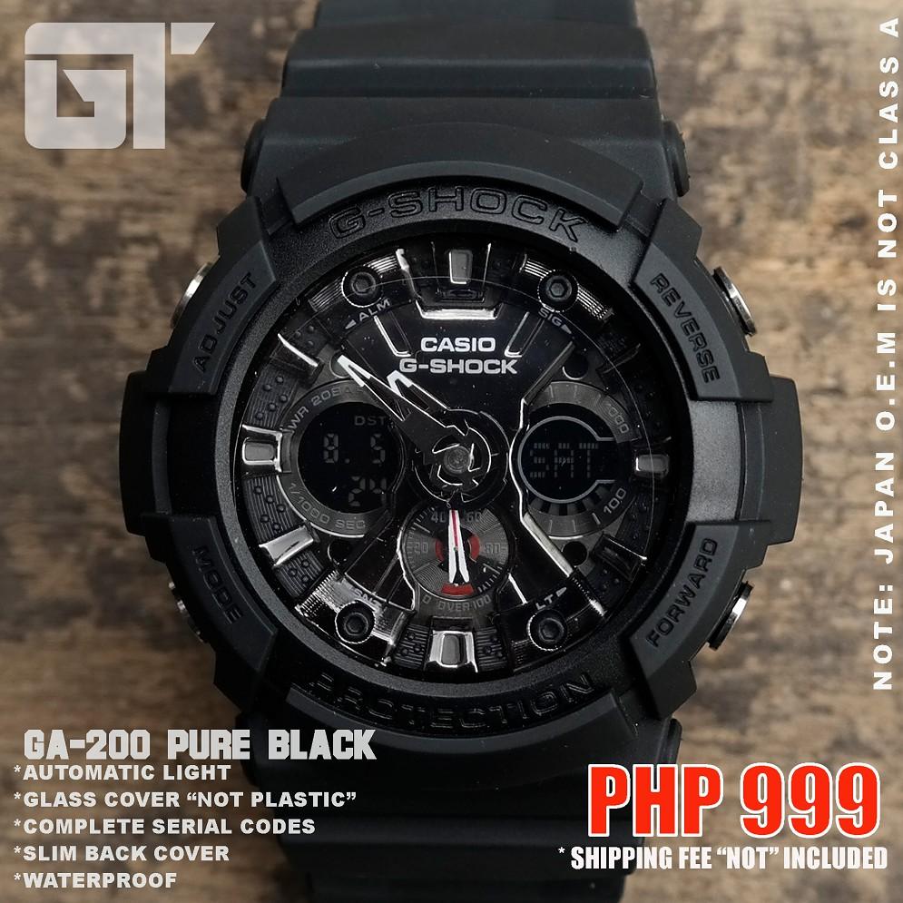 G Shock Ga 200 Pure Black Japan O E M Not Class A