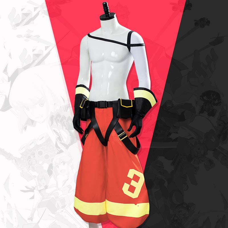 PROMARE Cosplay Galo Thymos Costume Pants Uniform Full Set Outfit
