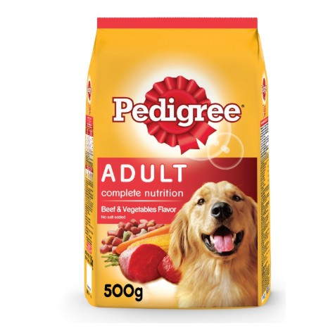 Pedigree Adult Beef & Vegetables Dry Dog Food (500g) | Shopee Philippines