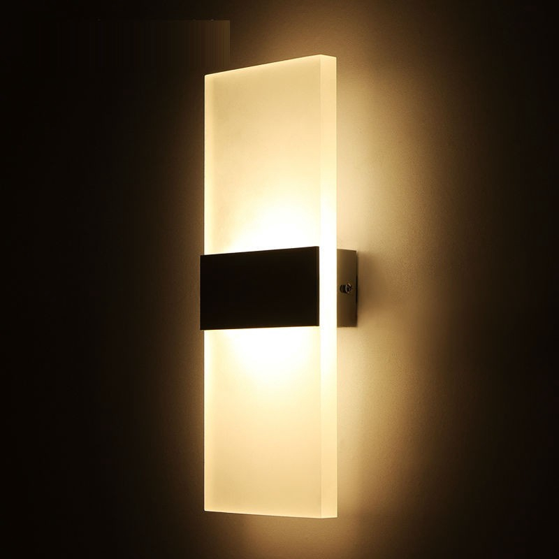 Square Induction Wall Night Light LED Lamp Bedroom Home Room Party Desk Decor
