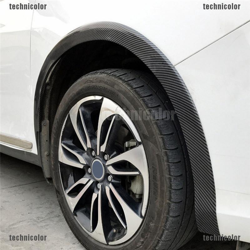 Black Universal Car Body Fender Flares Flexible Kit set 4pcs