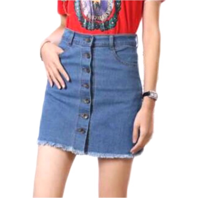 d11f5c9e5a420d Highwaist denim skirt | Shopee Philippines