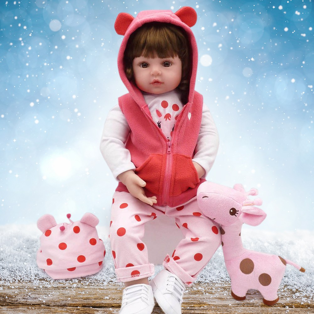 """23/"""" Reborn Baby Doll Handmade Realistic Looks Real for Toddler Boy Kids Toy Cute"""