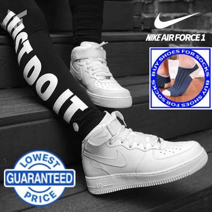 All Air NIke White Fashion Shoes 1 Couple Force High Cut UGMVLzqSp