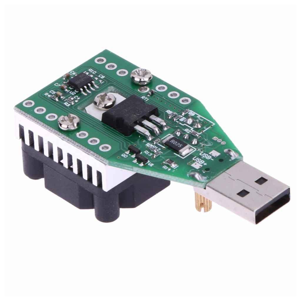 DC 3.7~13V USB 15W Adjustable Constant Current Electronic Load Discharger
