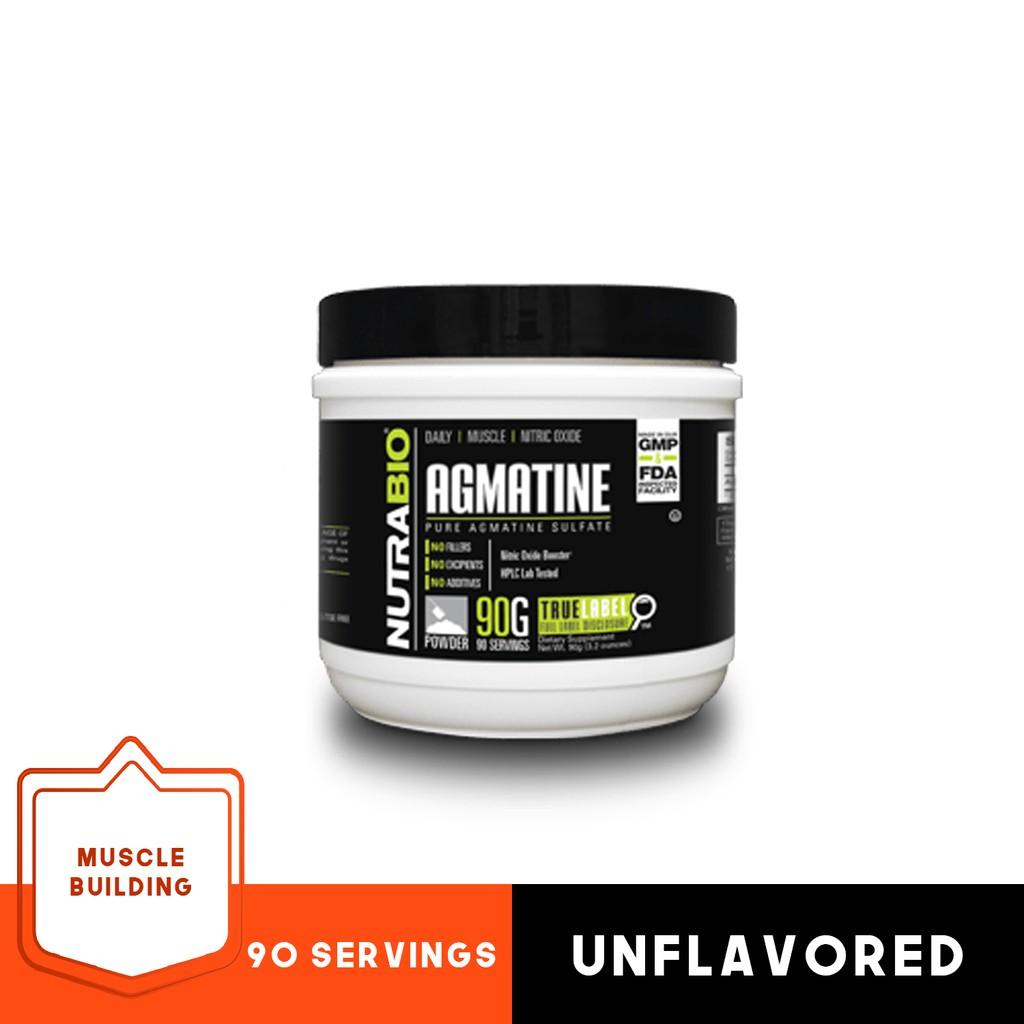 NutraBio Agmatine Sulfate Powder - 90g