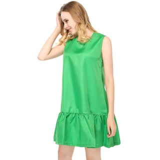 e95611140792 Lossky Women Sexy Ruffle Dress Loose Beach Dress Mini Party Dresses Green
