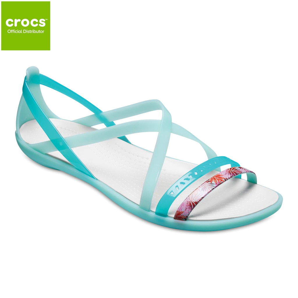 93e74684f693 Crocs Womens Isabella Strappy Sandal New Mint Oyster