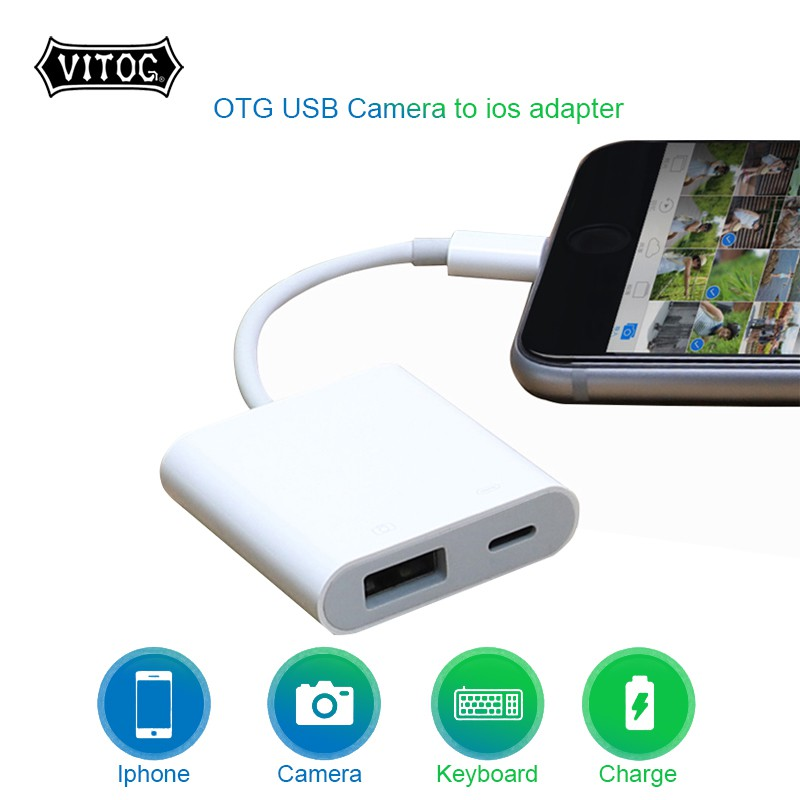 Vitog Otg Adapter For Lightning To Usb 3 Camera Cable Data Converter For Iphone Ipad Keyboard Connector Shopee Philippines