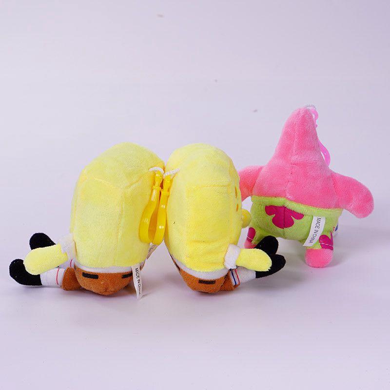 SpongeBob SquarePants Patrick Star Squidward Tentacles Plush Keychain Soft Toys