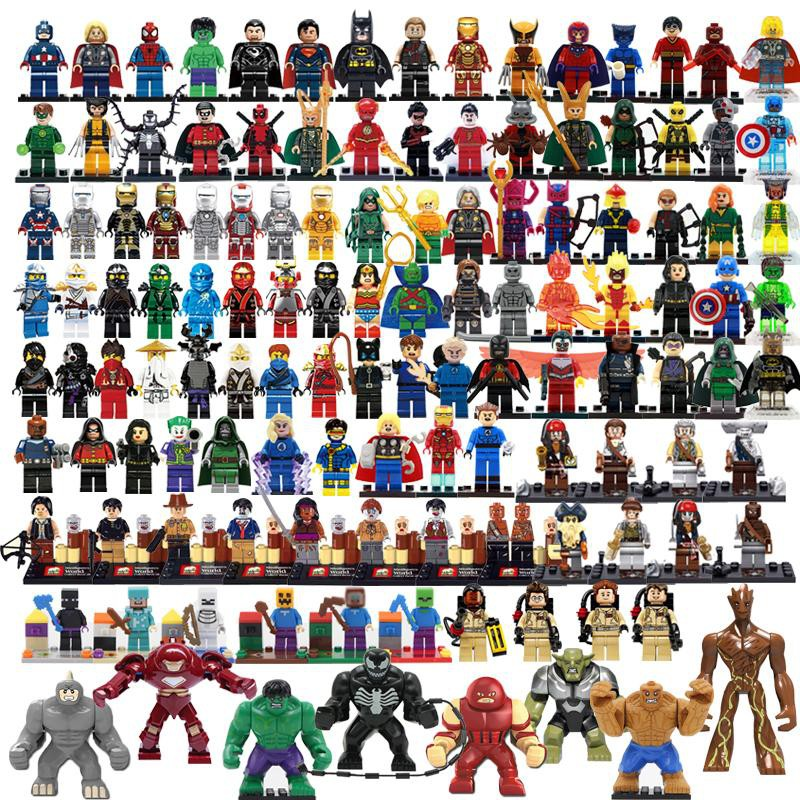 24 New Minifigs Building Blocks City Friends Police Figures Military Grab Bag