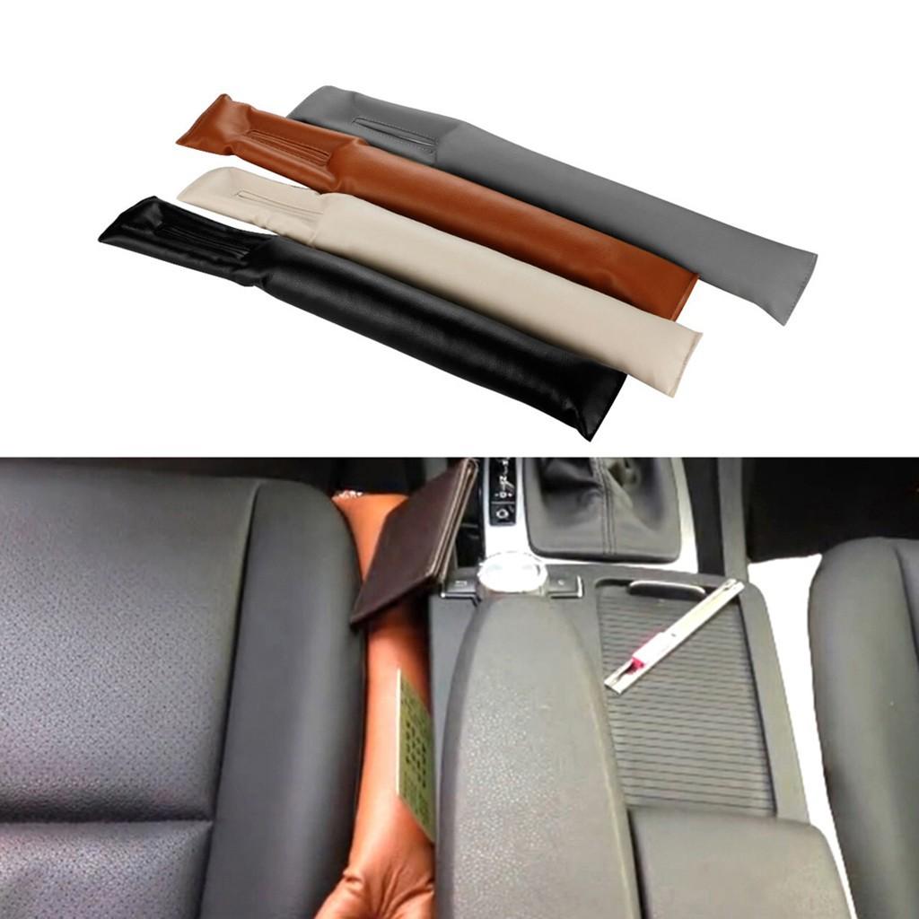 Soft Car Seat Side Hand Brake Gap Filler Pad Cussion Universal for Vehicles//Auto Leak-proof Stop Dropping 2 Pcs Car Seat Gap Filler Black