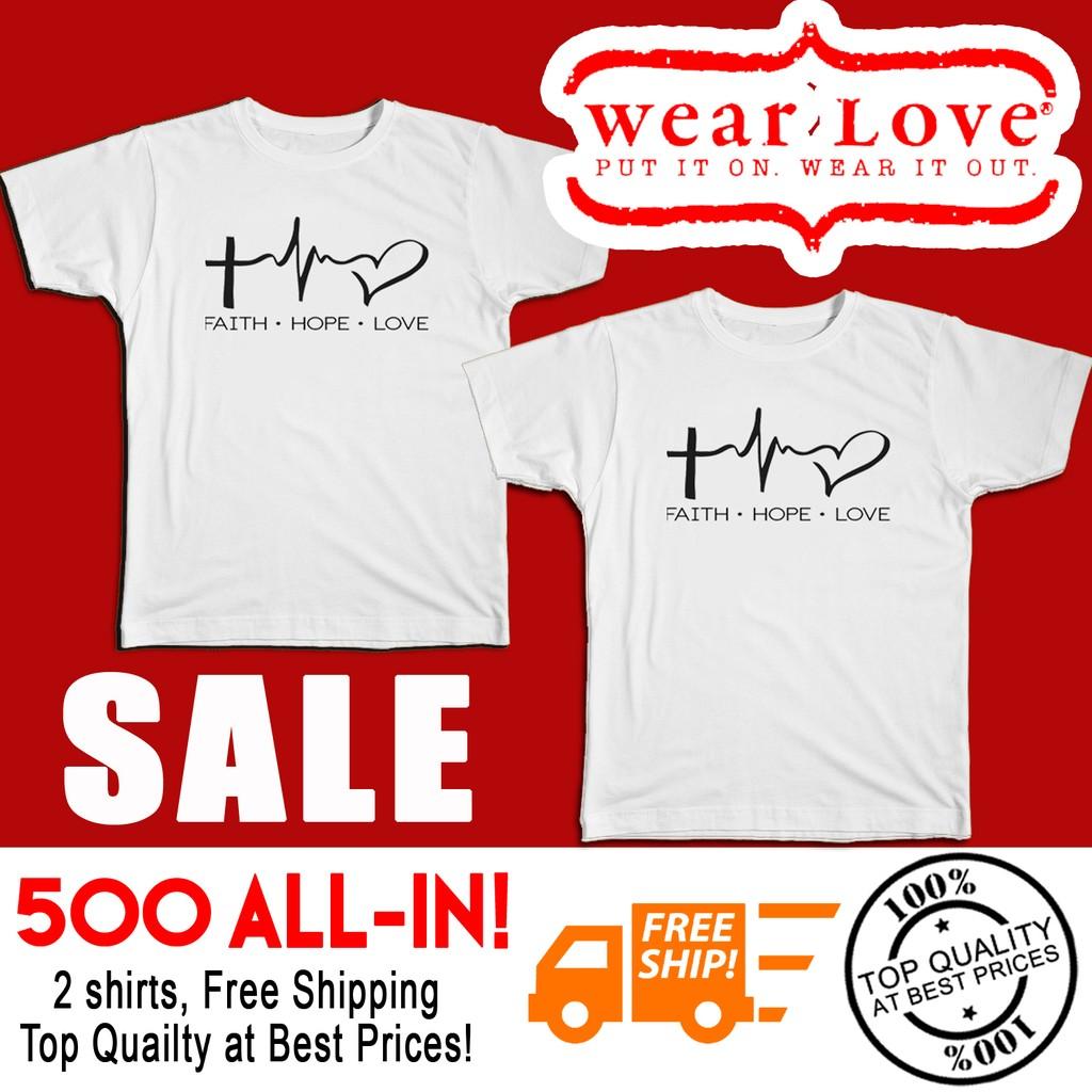 12e96e8bba5e Couple Shirt - Faith Hope Love | Shopee Philippines