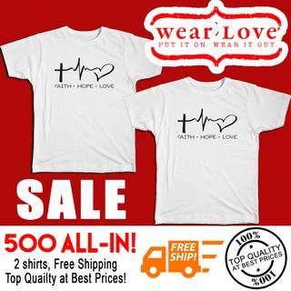 46c4b3cf3a Couple Shirt - Faith Hope Love   Shopee Philippines