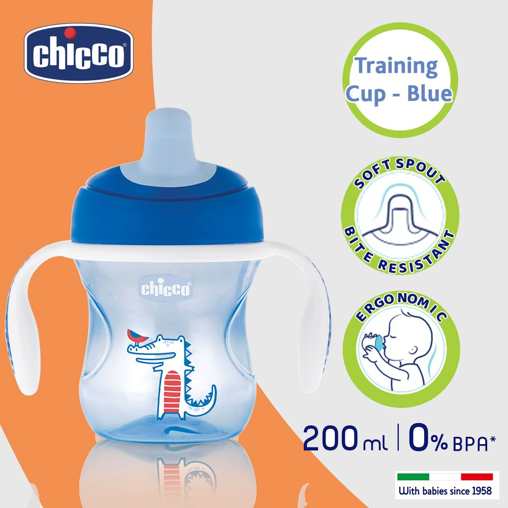 Chicco Training Cup 6m Boy Blue Shopee Philippines Soft Silicone Spoon Green Up
