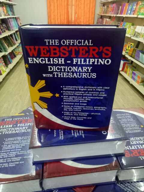Webster English - Filipino Dictionary witg thesaurus