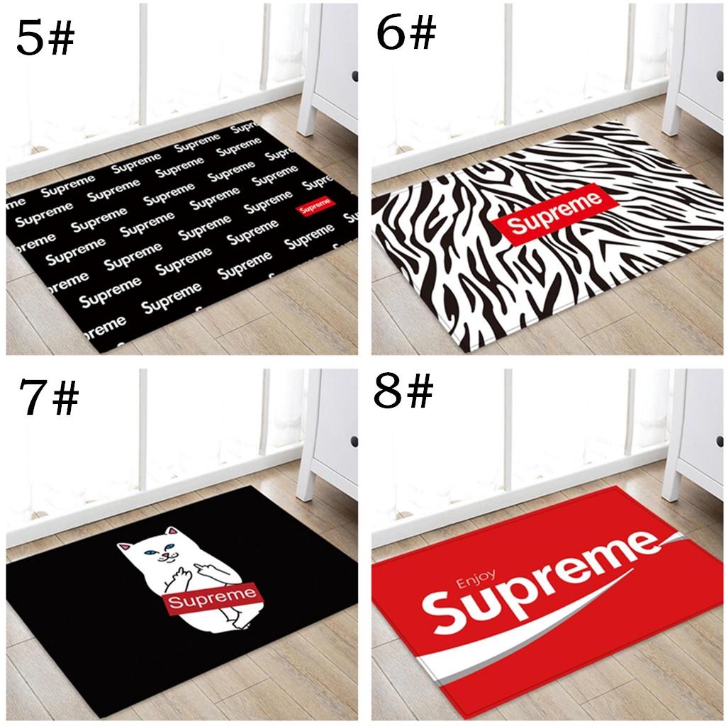Supreme Floor Mat Carpet Tide Brand Letters Printed Rug Non Slip
