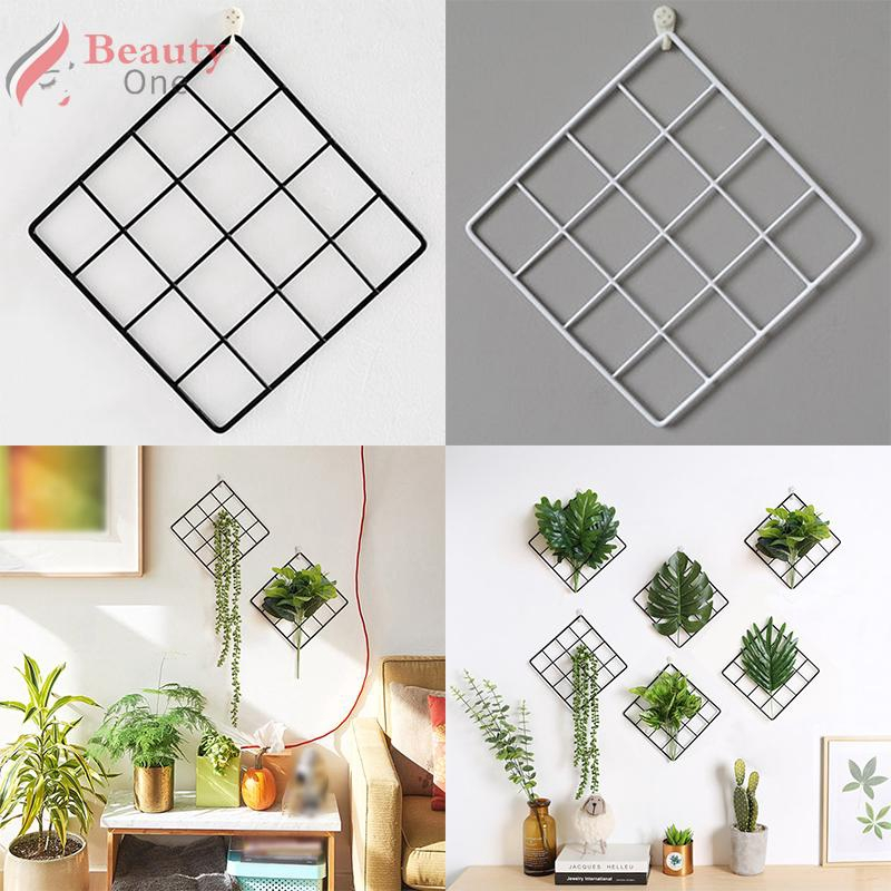 Plant Wall Hanging Grid Rack Display Organizer Storage Accessories Household Indoor Garden Room Shopee Philippines
