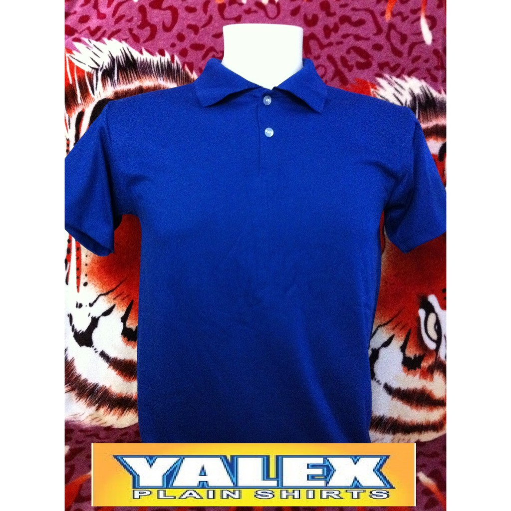 Filastrocche librarsi eleggere  COD Yalex Plain Shirts ( Royal Blue / Polo Shirt ) | Shopee Philippines