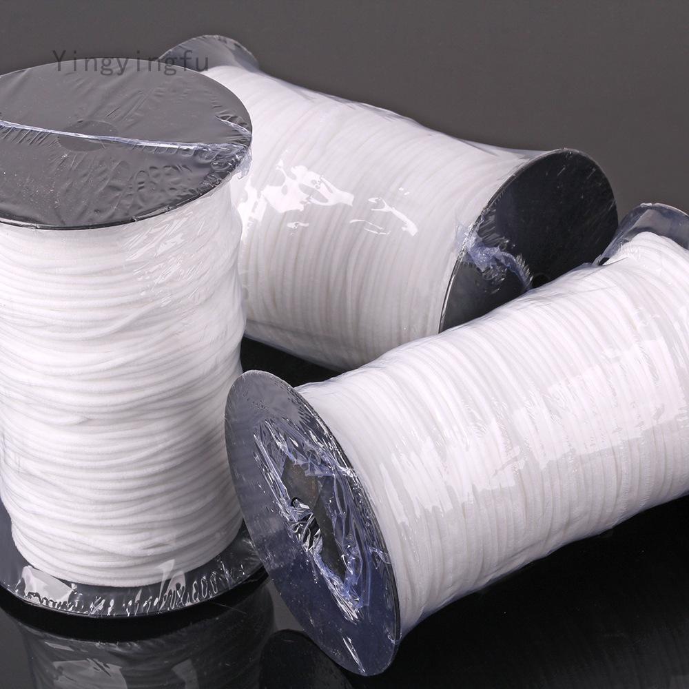 Yingyingfu Uk 10m 3mm Elastic Band Round Sewing Rope White Cord