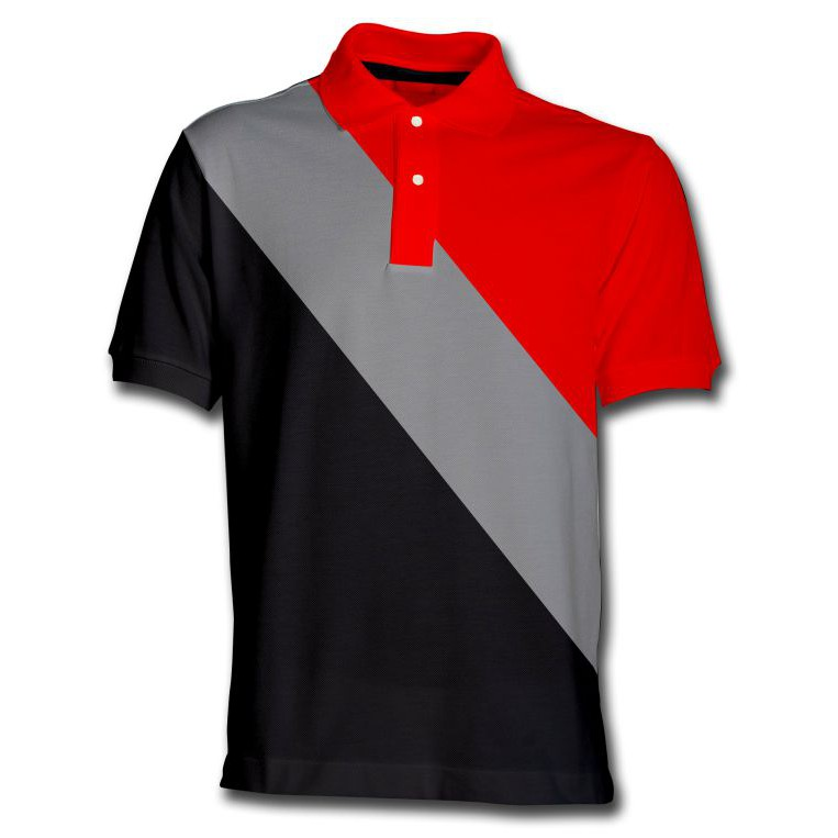 50% off clearance sale clear-cut texture Customized Polo Shirt Red Gray Black